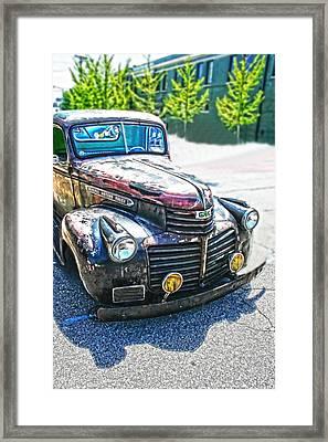 Vintage Gm Truck Frontal Hdr Framed Print