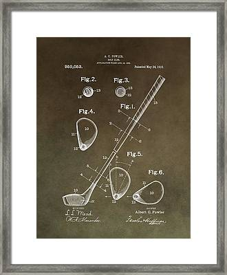 Vintage Golf Club Patent Framed Print