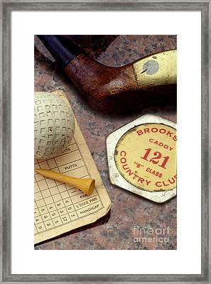 Vintage Golf Framed Print by Jon Neidert