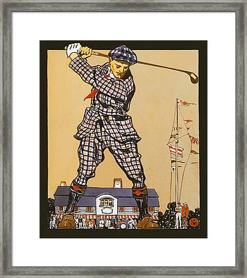 Vintage Golf Six Framed Print by Big 88 Artworks