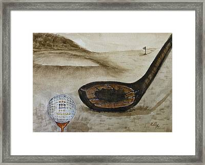 Vintage Golfing In The Early 1900s Framed Print
