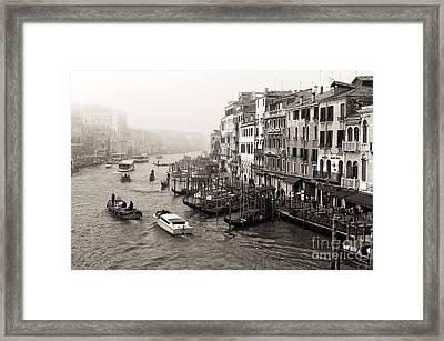 Vintage Grand Canal Transportation Framed Print