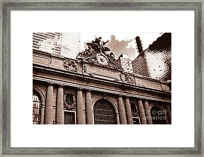 Vintage Grand Central Terminal Framed Print by John Rizzuto