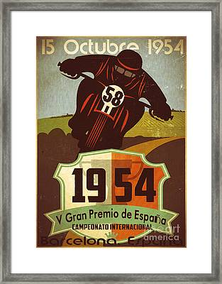 Vintage Grand Prix Spain Framed Print