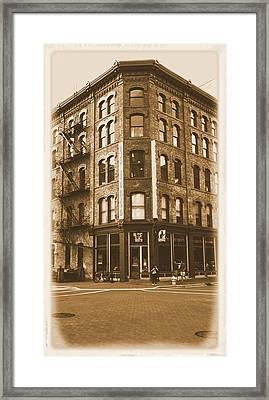 Vintage Grand Rapids Michigan Ionia Framed Print
