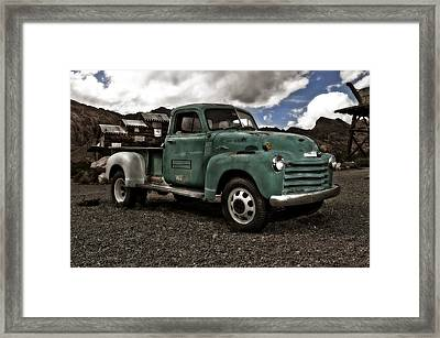 Vintage Green Chevrolet Truck Framed Print by Gianfranco Weiss