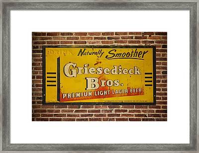Vintage Griesedieck Bros Beer Dsc07192 Framed Print by Greg Kluempers