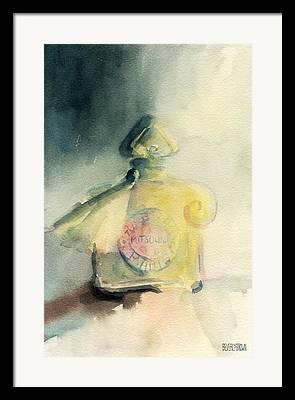 Perfume Bottle Framed Prints