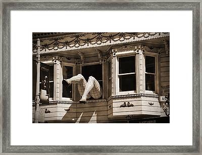 Vintage Haight And Ashbury San Francisco Framed Print