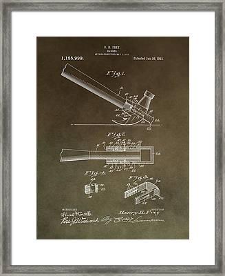 Vintage Hammer Patent Framed Print