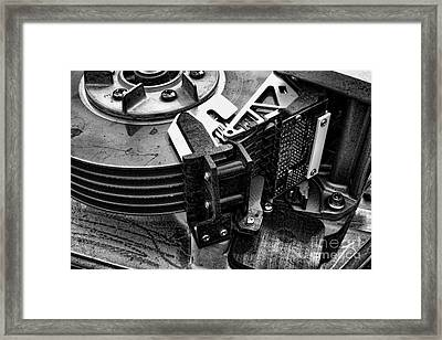 Framed Print featuring the photograph Vintage Hard Drive by Olivier Le Queinec