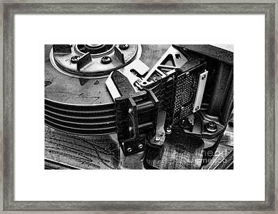Vintage Hard Drive Framed Print by Olivier Le Queinec