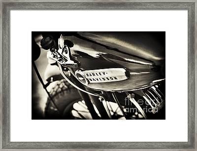 Vintage Harley Davidson Sepia  Framed Print