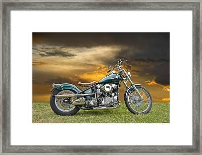 Vintage Harley Knuckle Head Framed Print