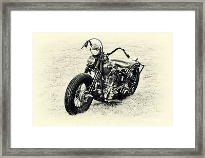 Vintage Hd Panhead Framed Print by Tim Gainey