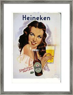 Vintage Heineken Beer Ad Framed Print