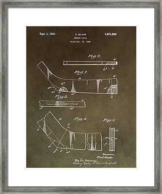 Vintage Hockey Stick Framed Print by Dan Sproul