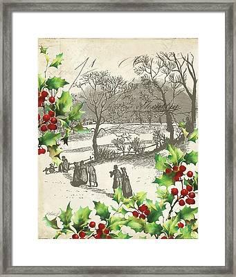 Vintage Holiday I Framed Print