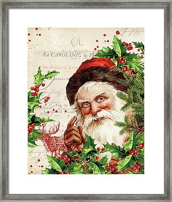 Vintage Holiday Iv Framed Print by Katie Pertiet