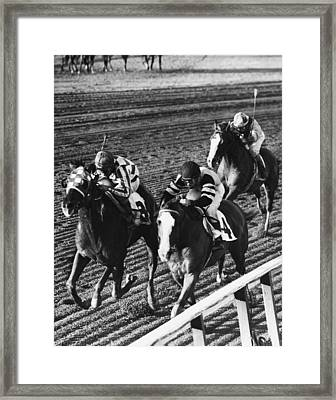 Vintage Horse Racing First Family Framed Print by Retro Images Archive