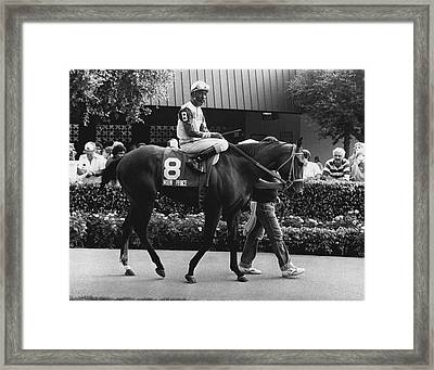Vintage Horse Racing Moon Prince Framed Print by Retro Images Archive