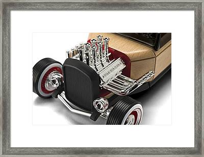 Framed Print featuring the photograph Vintage Hot Rod Engine by Gianfranco Weiss