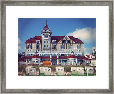 Framed Print featuring the photograph Vintage Hotel Baltic Sea by Art Photography