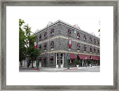 Vintage Hotel La Rose Santa Rosa California 5d25844 Framed Print