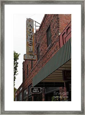 Vintage Hotel Oliver Santa Rosa California 5d25807 Framed Print