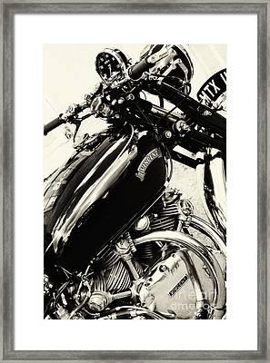 Vintage Hrd Vincent Series C Black Shadow Framed Print