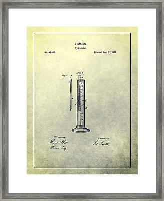 Vintage Hydrometer Patent Framed Print