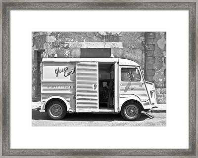 Vintage Ice Cream Truck Framed Print