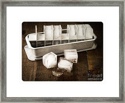 Vintage Ice Cubes Framed Print by Edward Fielding