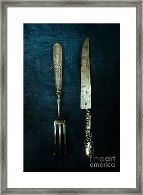 Vintage In Blue Framed Print by Jaroslaw Blaminsky