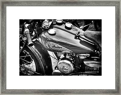Vintage Indian Motorcycle Framed Print by Tim Gainey