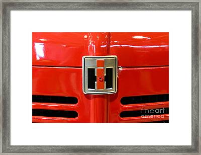 Vintage International Harvester Tractor Badge Framed Print