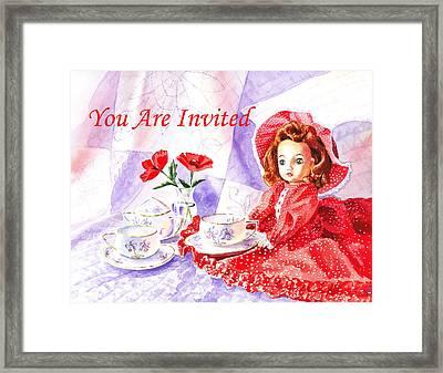 Vintage Invitation Framed Print by Irina Sztukowski