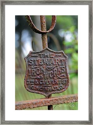 Vintage Iron Works Gate Framed Print