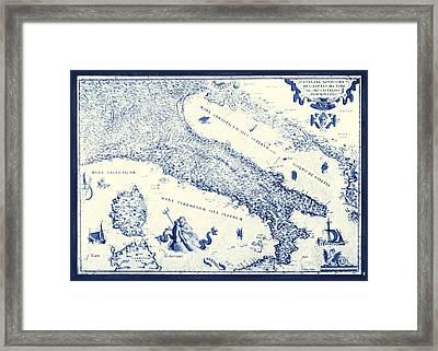 Vintage Italy Map Framed Print
