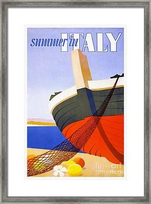 Vintage Italy Travel Poster Framed Print