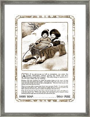 Vintage Ivory Soap Advert Framed Print by Georgia Fowler