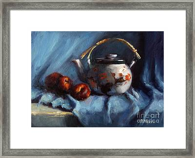 Vintage Japanese Tea Kettle Framed Print