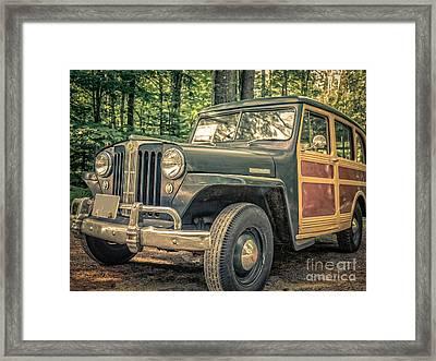 Vintage Jeep Station Wagon Framed Print