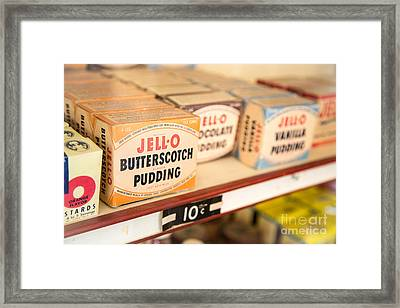 Vintage Jell-o Butterscotch Pudding Framed Print