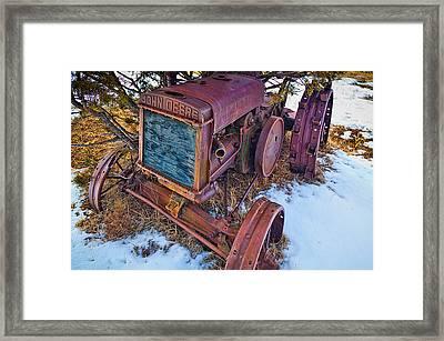 Vintage John Deere Framed Print by Inge Johnsson