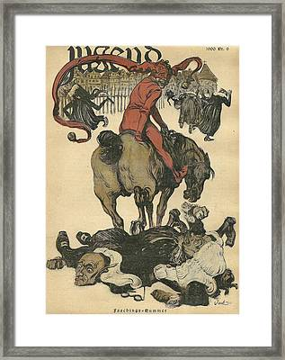 Vintage Jugend Magazine Cover Framed Print