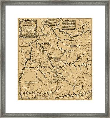 Vintage Kentucky Map Framed Print