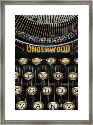 Vintage Keyboard Framed Print by Paul Ward