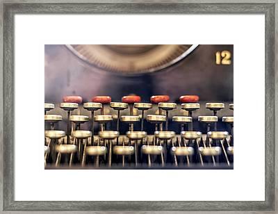 Vintage Keys Framed Print by Georgia Fowler