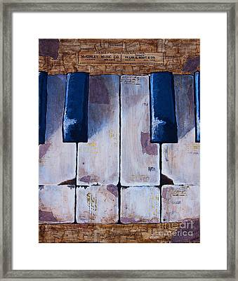 Vintage Keys Framed Print